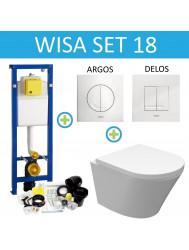 Wisa XS Toiletset set18 Wiesbaden Vesta Junior Rimless met Argos of Delos drukplaat