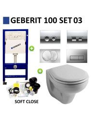 Geberit UP100 Toiletset set03 Sphinx Econ 2.0 met Delta drukplaten