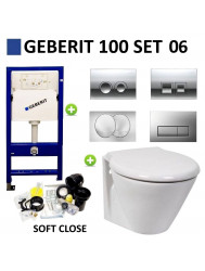 Geberit UP100 Toiletset set06 Laufen Royal Met Delta Drukplaat