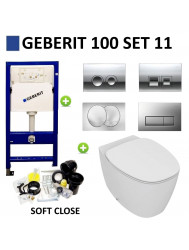 Geberit UP100 set11 Ideal Standard Dea met Delta drukplaat