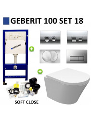 Geberit UP100 set18 Wiesbaden Vesta Junior Rimless met Delta drukplaat