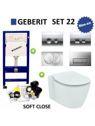 Geberit UP100 set22 Ideal Standard Connect Aquablade met Delta drukplaat