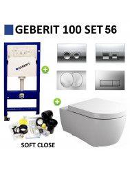 Geberit UP100 Toiletset Set56 Clou First 55 Keramiek Glans Wit Met Delta Drukplaat