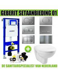 Geberit UP320 Toiletset set01 Basic Smart met Sigma drukplaat