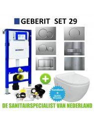 Geberit UP100 Toiletset set29 VM Go Aquaflow Rimfree met Delta drukplaat
