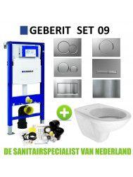Geberit UP320 Toiletset set09 Boss & Wessing Brussel met Sigma Drukplaat