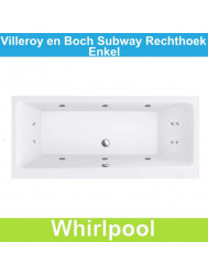 Ligbad Villeroy & Boch Subway 160x70 cm Balboa Whirlpool systeem Enkel | Tegeldepot.nl