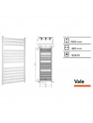 Handdoekradiator Boss & Wessing Vale 1820 x 660 mm | Tegeldepot.nl