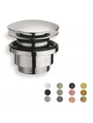 Afvoerplug Hotbath Cobber Allways Open Met Schroef Rond (Verkrijgbaar in 10 kleuren)
