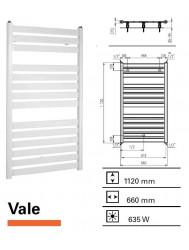 Handdoekradiator Boss & Wessing Vale 1120 x 660 mm  | Tegeldepot.nl
