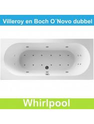 Ligbad Villeroy & Boch O.novo 180x80 cm Balboa Whirlpool systeem Dubbel | Tegeldepot.nl