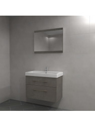 Badkamermeubel Dekker Vittoria 80 cm Houtstructuur Grijs