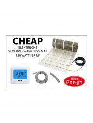 Vloerverwarming Best Design Cheap Elektrische Vloerverwarmingsmat 12m2 (150 Watt)