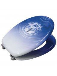 VM GO Raindrop Blue toiletzitting | Tegeldepot Zeewolde