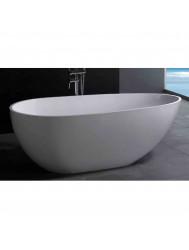 Vrijstaand Bad Luca Sanitair Vasca 183x85x61,5cm Solid Surface Mat Wit