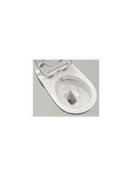 Wandcloset Sanicare Met Bidetspoeler Soft-Close Toiletzitting 53,5x36 cm Wit Keramiek