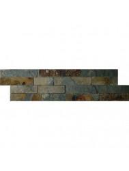 Wandtegel Schiste flatface stonepanel rusty slate 15x60x2/3 (p/Stuk) (Wandtegels)