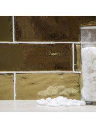Wandtegel Rajoles Classic Golden Glossy 7,5x30 cm (doosinhoud: 1,00 m2 per doos)