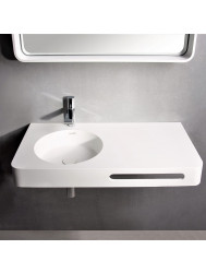 Fontein Ideavit Solidbrio 90x48x14 cm Solid Surface Mat Wit