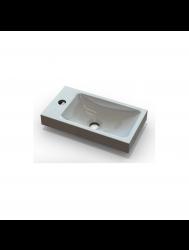Wastafel Sanicare Q40 40x22 cm Mineraalmarmer Wit