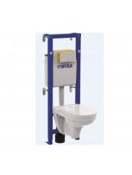 Toiletset Wisa XT Met Villeroy & Boch Wandcloset Softclose Zitting En Drukplaat