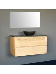 Badmeubelset Sanilux Wood Dynasty 80 cm Incl. Spiegel
