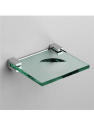 Zeepschaal Clou Quadria Helder Glas Chroom