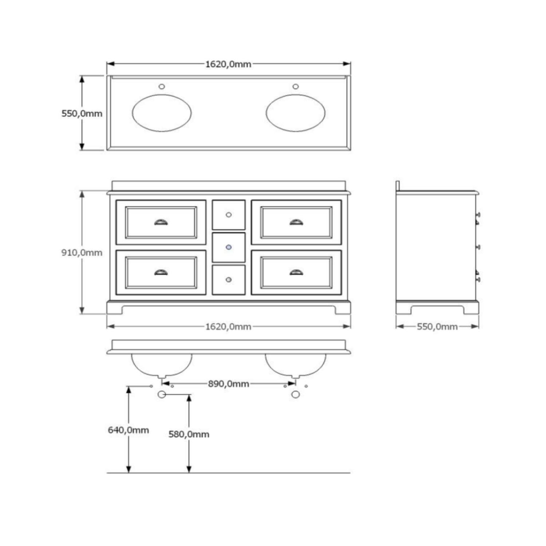 uniek badkamermeubel 160 cm badkamermeubels ontwerpen 2017