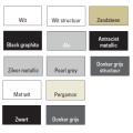 Handdoekradiator Locco 1215 x 600 mm Donker grijs structuur
