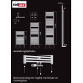 Handdoekradiator Wiesbaden Elara 766x600mm wit