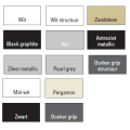 Designradiator Boss & Wessing Locco Middenaansluiting 177,5x60 cm 982 Watt Donkergrijs Structuur