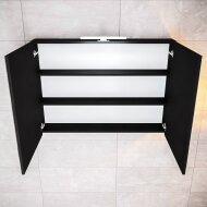 Spiegelkast Boss & Wessing Cube 100x70x16 cm Mat Zwart Urban (2 deuren)