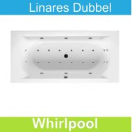 Whirlpool Riho Linares 190 x 90 cm Mat Wit Dubbel systeem