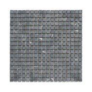 Mozaïek Natural Stone 30.5x30.5 cm Ongeïmpregneerd, Marmer Nero Anticato Grijs (Prijs Per 1.00 m2)