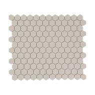 Mozaïek London 26x30 cm Onverglaasd Porselein Hexagon, Mat Antislip En Wit (Prijs Per 0.78 m2)