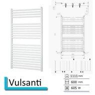 Handdoekradiator Vulsanti 1111 x 600 mm Wit structuur