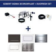 Bedieningsplaat Geberit Sigma 30 + DuoFresh Geurzuiveringssysteem Mat Zwart