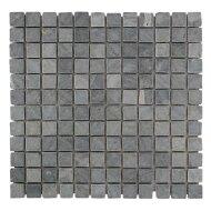 Mozaïek Parquet 2,4x2,4 Gray Blue Tumble Marmer 30x30 cm (Prijs per 1m²)