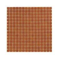 Mozaïek Amsterdam Basic 32.2x32.2 cm Glas Met Fijne Korrels Donker Terra (Prijs Per 1.04 m2)