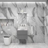 Badkamermeubelset Gliss Zeus 60 cm Beton Grijs Met Waskom