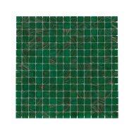 Mozaïek Amsterdam Goud 32.2x32.2 cm Glas Met Goud Ader En Midden Groen (Prijs Per 1.04 m2)