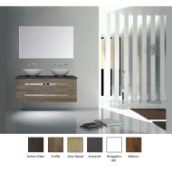 Badkamermeubelset Sanicare Q12 2 Hoogglans Wit (spiegel optioneel)