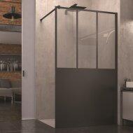 Inloopdouche SanSwiss Walk-In Easy Loft Atelier 100x200 cm Mat Zwart