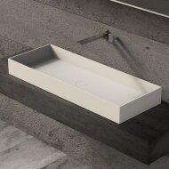 Opbouw Waskom Ideavit Solidjoy 100x37,5x11 cm Solid Surface Mat Wit