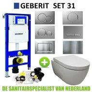 Geberit UP320 Toiletset set31 Sanilux Easy Flush 48cm compact met Sigma drukplaat