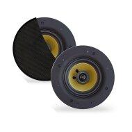 Speakerset Aquasound Rumba Tweeter Rond 120 mm 45 Watt Zwart