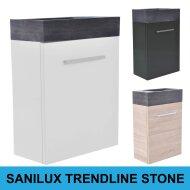 Fonteinkast Sanilux Trendline Stone links/rechts draaiend (3 kleuren)
