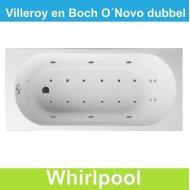 Ligbad Villeroy & Boch O.novo 170x75 cm Balboa Whirlpool systeem Dubbel | Tegeldepot.nl