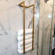 Handdoekenrek BWS Industrieel 95x25x20 cm Brons