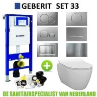 Geberit UP320 Toiletset set33 Idevit Alfa Randloos Keramiek Diepspoel 36x52x30cm Sigma drukplaat